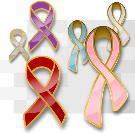 custom awareness ribbon pins